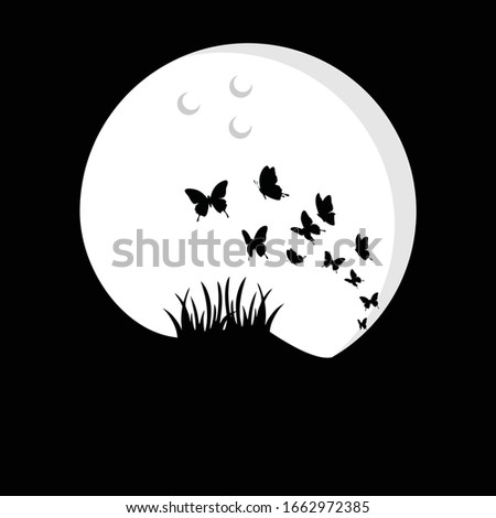 the butterfly silhouette