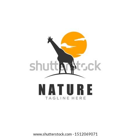 the giraffe's animal logo is