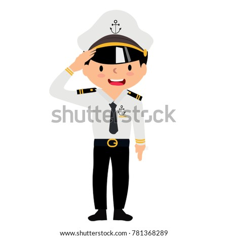 the naval officer wears a