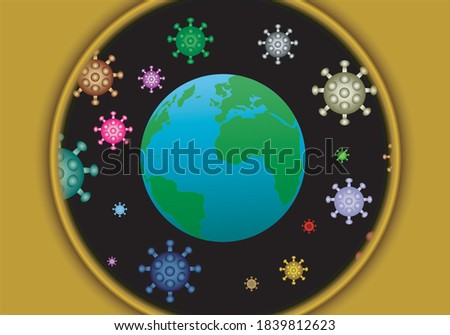 the planet earth surrounded by