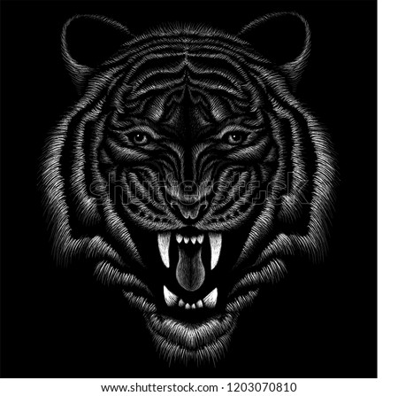 the vector logo tiger for t