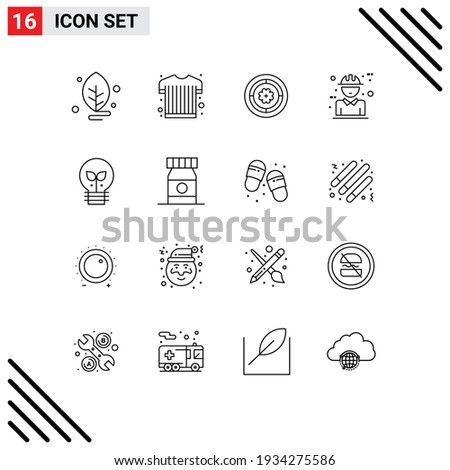 16 thematic vector outlines and