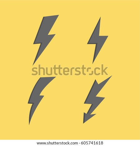 thunderbolt signs on yellow