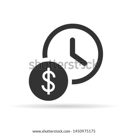time is money  flat icon