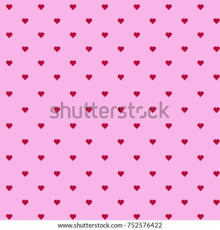 Pink Seamless Heart Pattern