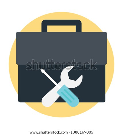 Toolkit with screwdriver and spanner, technical services