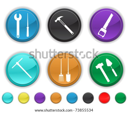 tools icons,each color icon is set on a different layer,easy to edit or re-size