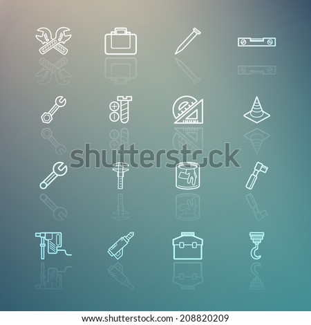 Tools icons on Retina background