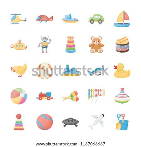 Toys Flat Icons