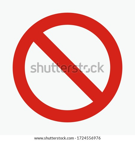 traffic sign. illustration of traffic signs in flat style. Warning is prohibited from entering.vector illustration. vector icon. Stockfoto ©