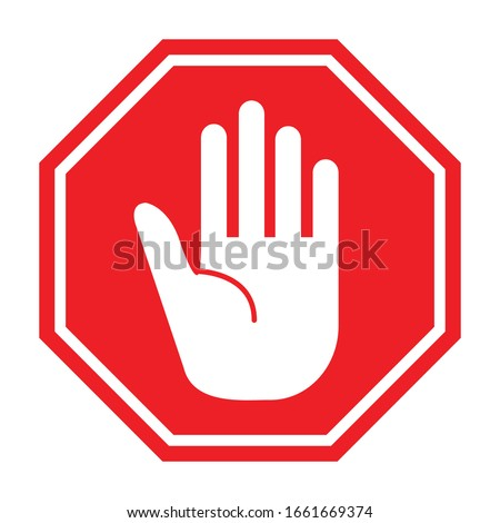 Traffic sign stop. Prohibition sign. Vector illustration. on white background Photo stock ©