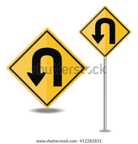 traffic sign U TURN