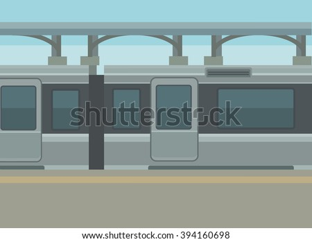 train station platform vector