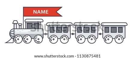 Train vector illustration vector locomotive icons