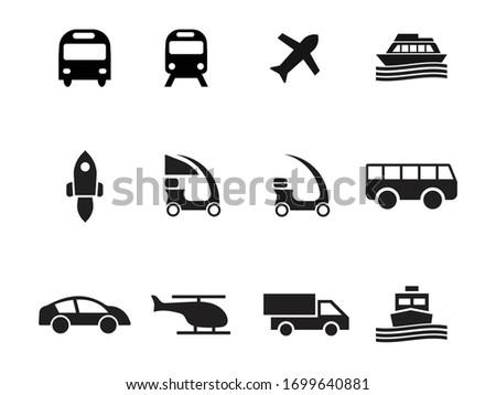 transport icon vector design set, transport icon, transport car. icon set