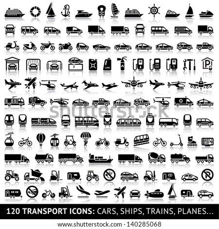 120 transport icon with
