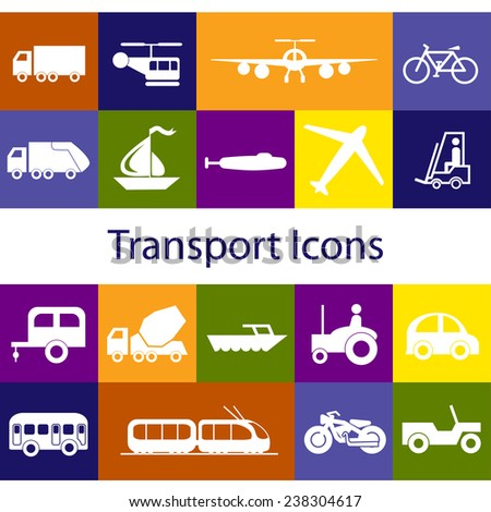 16 Transport Icons (Vector)