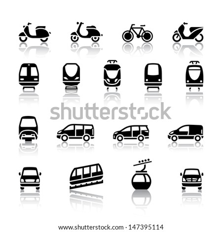 Transport icons. Vector illustration