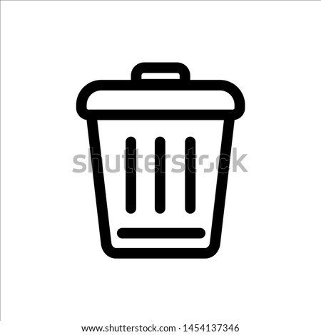 trash can icon. symbol of delete or remove with trendy flat style icon for web site design, logo, app, UI isolated on white background. vector illustration eps 10