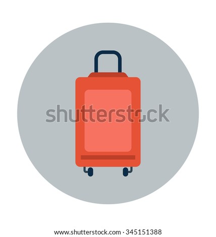 trave bag colored vector icon