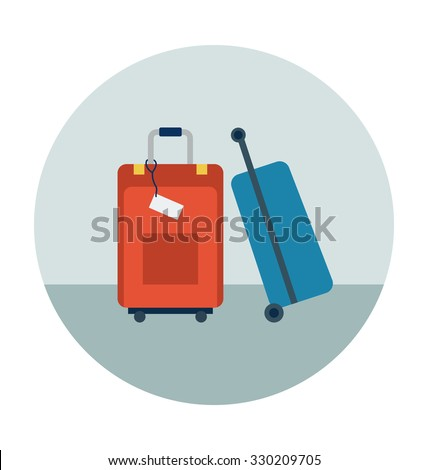 Travel Bags Colored Vector Icon