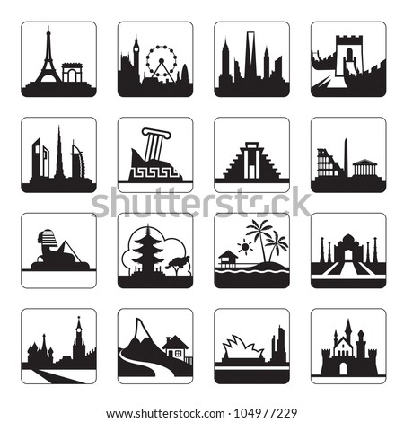 Travel destinations - vector illustration