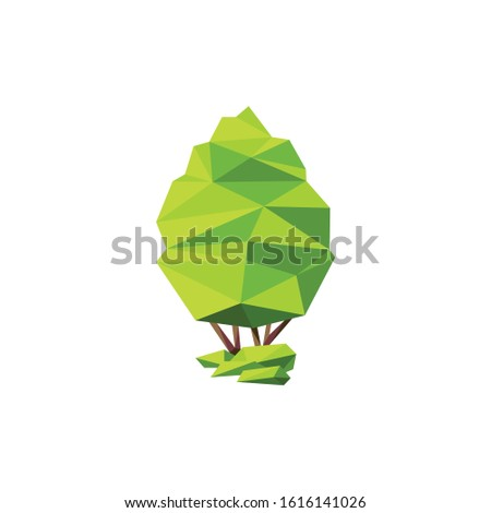 Trees abstract pictogram Vector İcon İllustration