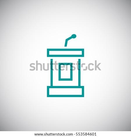 Shutterstock  Tribune icon Vector.