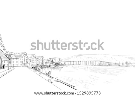 tromso bridge tromso  norway