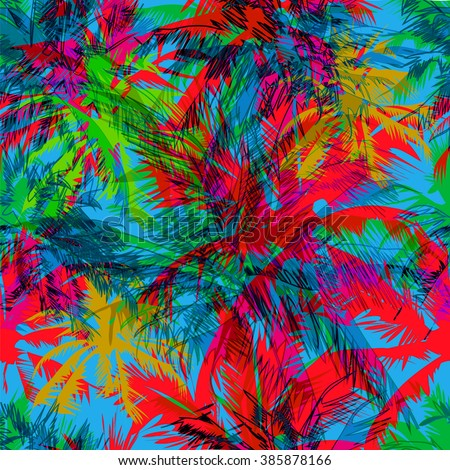 tropical pattern depicting