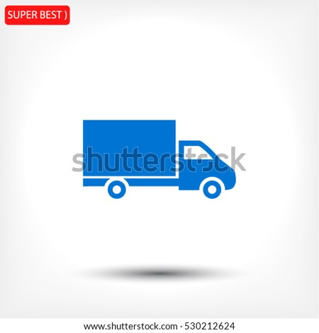 truck vector icon 10 EPS