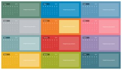 2015 Turkish Calendar in vector