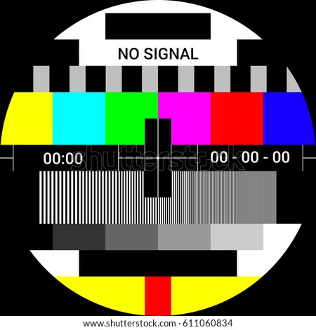 tv test card with rainbow