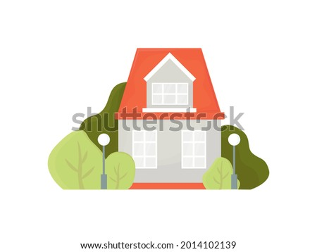 two storey house is isolated