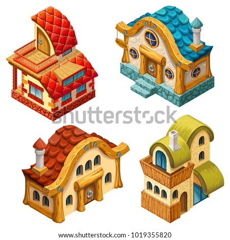 4 types of 3d isometric