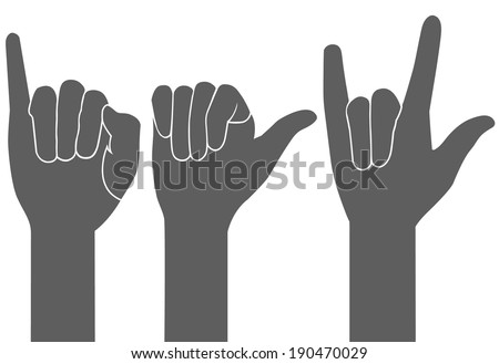 3 types of gray hand sign