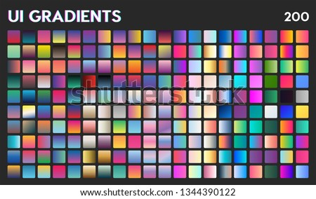 200 ui gradient color swatches