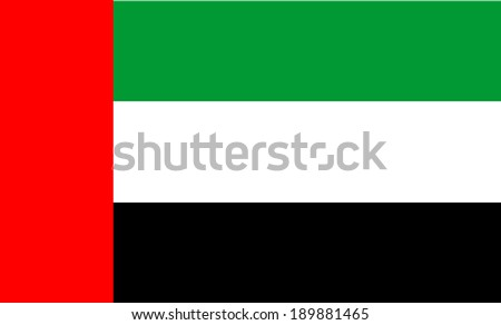 United Arab Emirates flag isolated vector in official colors and proportion.