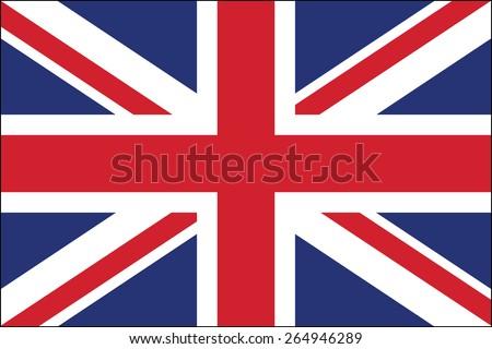 united kingdom flag vector