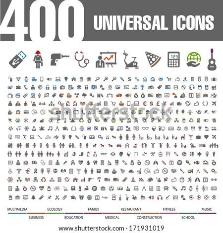 400 Universal Icons.