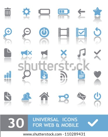 30 universal icons for web & mobile