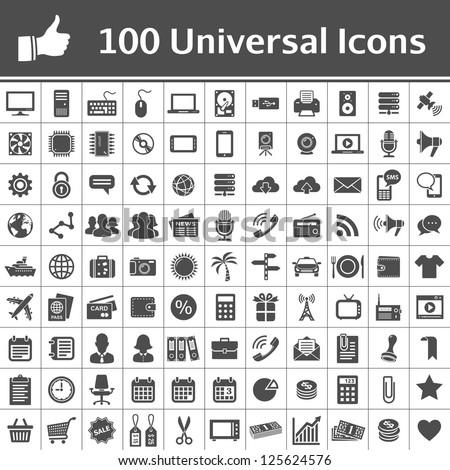 100 universal icons simplus