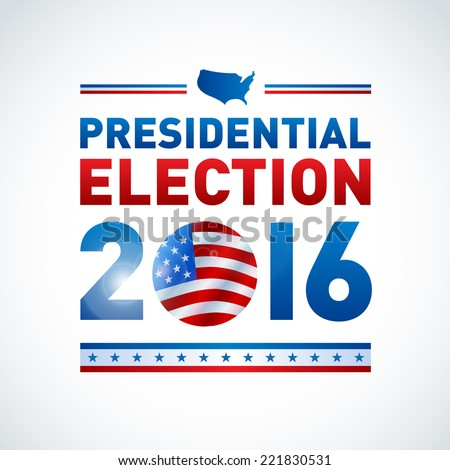 2016 USA presidential election poster. EPS 10