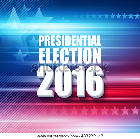 2016 USA presidential election poster. Vector illustration EPS10