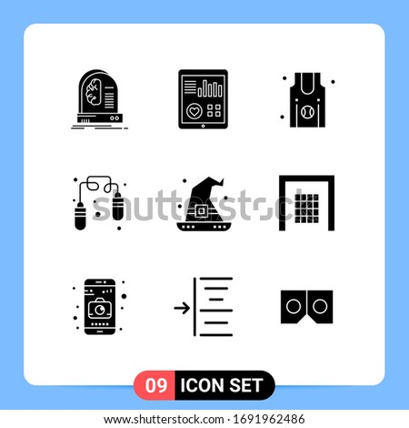 9 user interface solid glyph