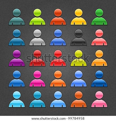 25 user profile glossy web