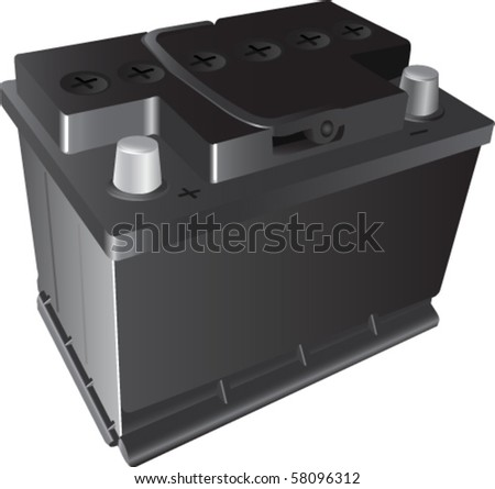 Batter on 12v Car Battery  Stock Vector 58096312   Shutterstock