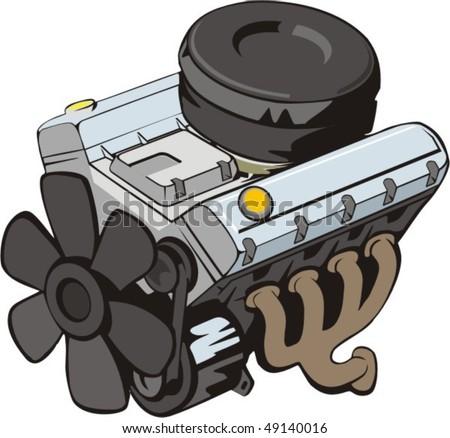 """""""v"""" figurative engine of internal combustion"""