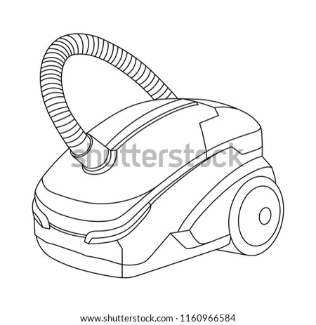 Vacuum cleaner illustration, House work theme, Vector icon, Cleaning service