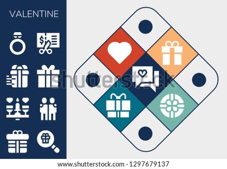 valentine icon set 13 filled